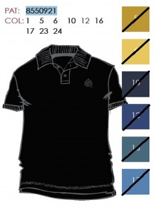 CIRCULARBASIC POLO SHIRTS   855092101