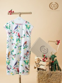Cherry Birds Premium Linen Dress (CI16RE)