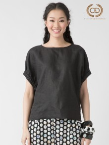 Black Premium Linen Blouse (CL4ABL)