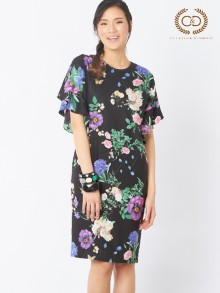 Mid Night Flower Tencel Dress (CO25BL)