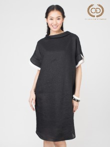 B&W Premium Linen Dress (CO34BL)