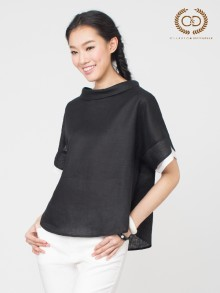 B&W Premium Linen Blouse  (CO36BL)