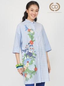 Mix Flower Jasmine Scent Premium Cotton Dress (CP2NDB)