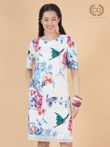 Butterfly&Peony Premium Linen Dress (CQ17BU)