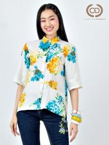 Hydrangea Royal Linen Premium Shirt (CR2UYE)