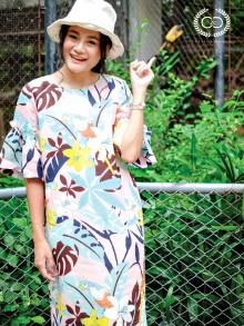 Amazon Pastel Linen Premium Dress (CR39PI)