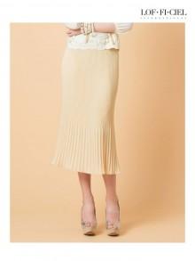 Pleat Bell Skirt(FO1LDY)