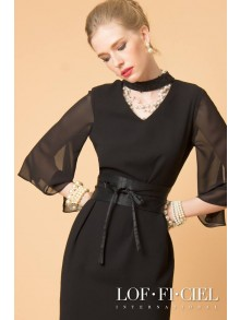 Business Dress -Choker Dress (FP48BL)