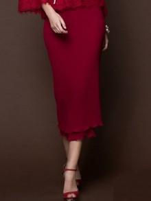 Double Ruffle Pleat Skirt(FP4YDE)