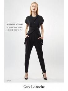 Business Sleeveless Tunic Light Blouse (GO4ZBL)