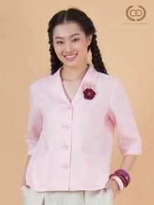 Baby Peony Premium Linen Blouse (CQ1LLP)