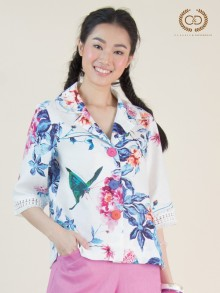 Butterfly&Peony Premium Linen Shirt (CQ1NBU)