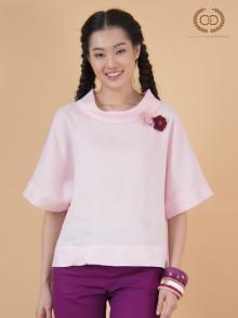 Baby Peony Premium Linen Blouse (CQ1ZLP)