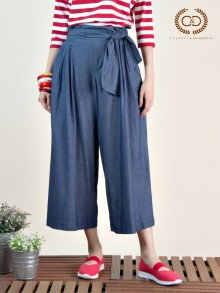 Blue Cotton Pants (CQ32NV)