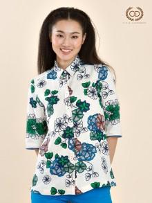 Drawing Sakura Linen Premium Shirt (CQ3XGR)